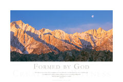 Formed by God print