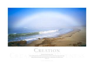 fog bow, bean beach, ocean, beach