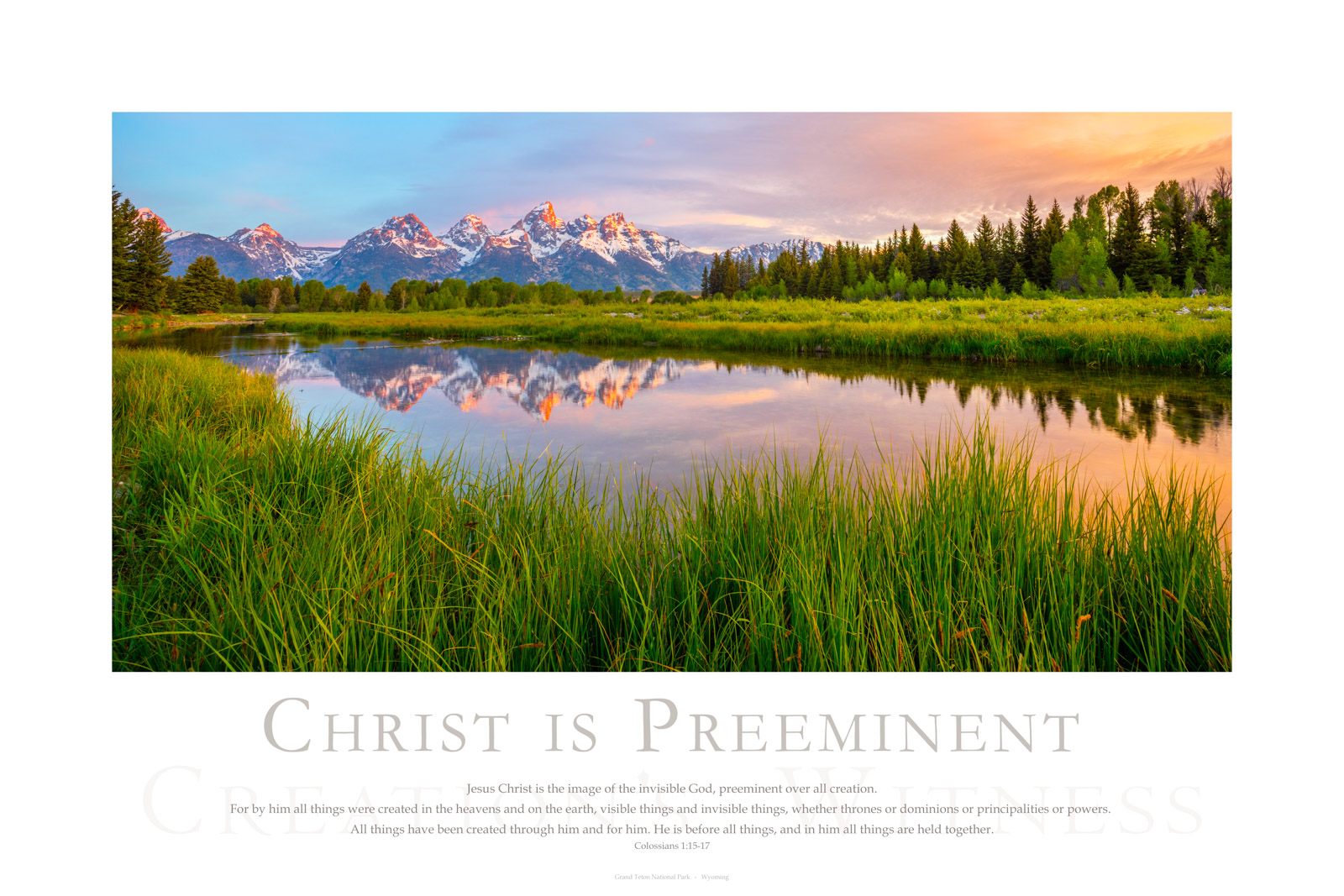 Jesus Christ is the image of the invisible God, preeminent over all creation. For by him all things were created in the heavens...
