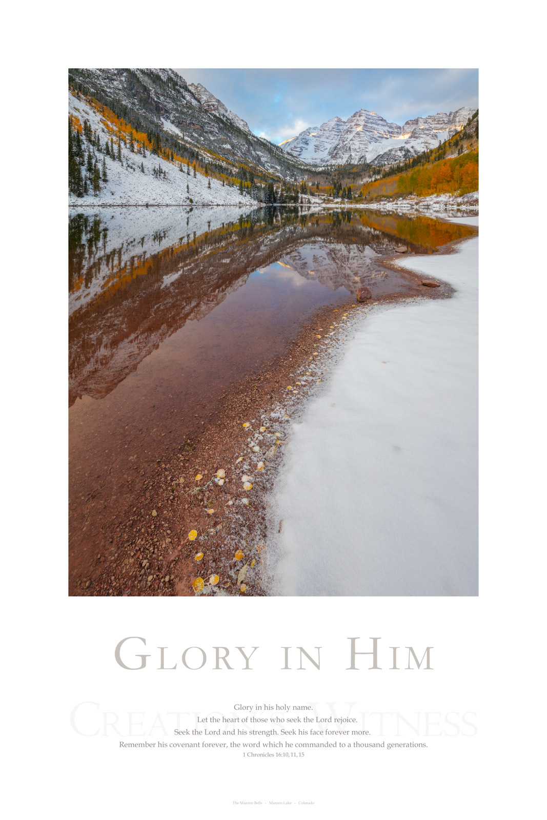 Glory in his holy name. Let the heart of those who seek the Lord rejoice. Seek the Lord and his strength. Seek his face forever...