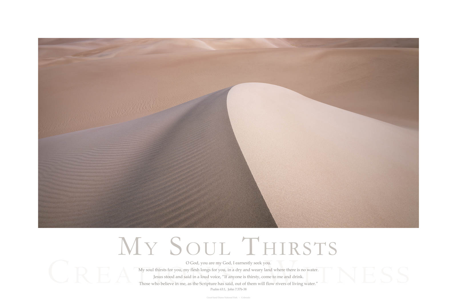 O God, you are my God, I earnestly seek you. My soul thirsts for you, my flesh longs for you, in a dry and weary land where there...