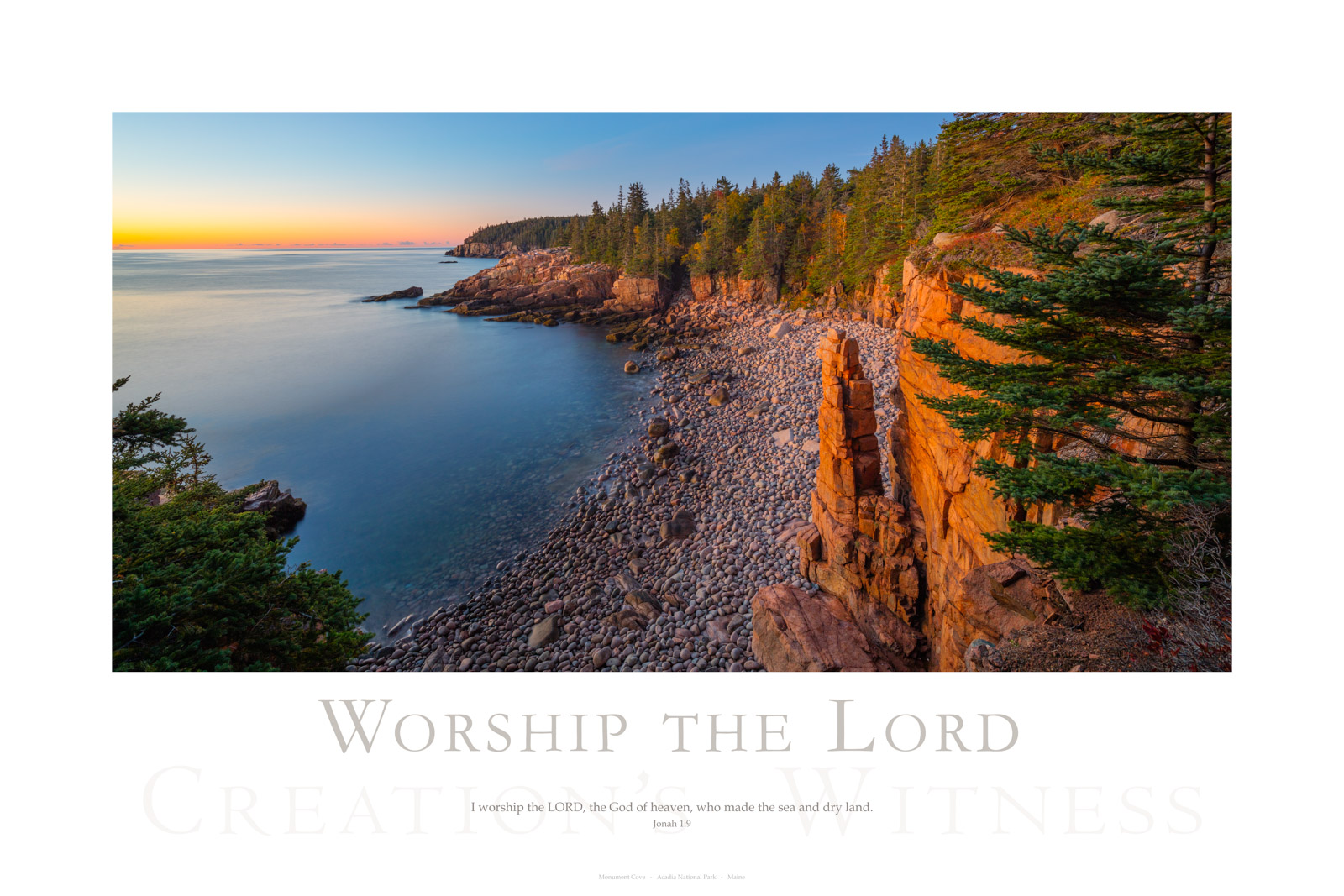 I worship the LORD, the God of heaven, who made the sea and dry land. Jonah 1:9